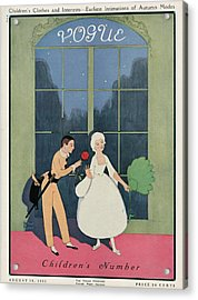 Vogue Cover Illustration Of A Boy Offering A Girl Acrylic Print