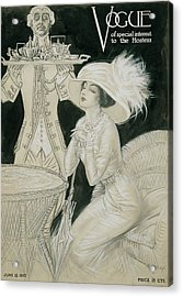Vogue Cover Illustration Of A Valet Carrying Acrylic Print