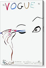 Vogue Cover Illustration Of A Woman Putting Acrylic Print