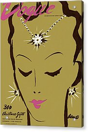 Vogue Cover Illustration Of A Woman Wearing Star Acrylic Print by Eduardo Garcia Benito