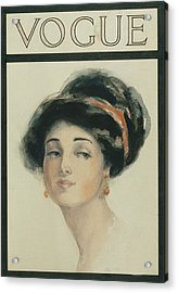 Vogue Cover Illustration Of A Woman With Black Acrylic Print