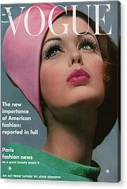 Vogue Cover Of Dorothy Mcgowan Acrylic Print by Bert Stern