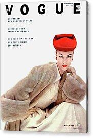 Vogue Cover Of Janet Randy Acrylic Print by Clifford Coffin