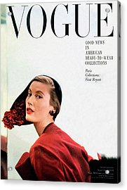Vogue Cover Of Mary Jane Russell Acrylic Print