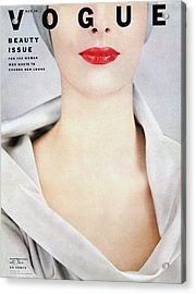 Vogue Cover Of Victoria Von Hagen Acrylic Print by Erwin Blumenfeld
