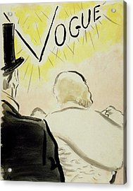 Vogue Magazine Cover Featuring A Couple Seen Acrylic Print