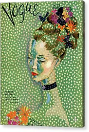 Vogue Magazine Cover Featuring A Woman Acrylic Print by Cecil Beaton