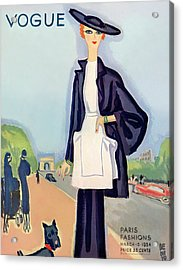 Vogue Magazine Cover Featuring A Woman Walking Acrylic Print by Eduardo Garcia Benito
