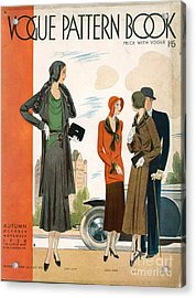 Vogue Pattern Book Cover 1930 1930s Uk Acrylic Print by The Advertising Archives
