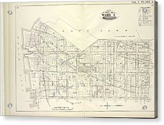 Vol. 5. Plate, A. Map Bound By U.s. Navy Yard, Concord St Acrylic Print