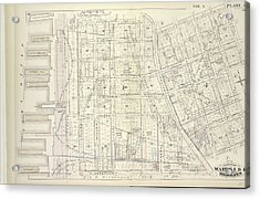 Vol. 5. Plate, C. Map Bound By Poplar St., Sands St., Jay Acrylic Print by Litz Collection