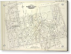 Vol. 5. Plate, D. Map Bound By Sands St., U.s. Navy Yard Acrylic Print by Litz Collection