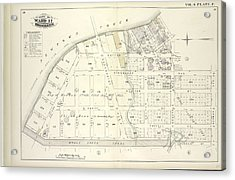Vol. 6. Plate, F. Map Bound By Newtown Creek, Charlick St Acrylic Print by Litz Collection