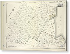 Vol. 6. Plate, G. Map Bound By Norman Ave. Kingsland Ave Acrylic Print by Litz Collection