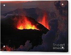 Acrylic Print featuring the photograph Volcanic Eruptions by Gunnar Orn Arnason