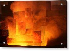 Volcanic Fire - Kilauea Caldera  Acrylic Print
