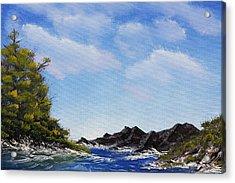 Volcanic Rock Lagoon Acrylic Print
