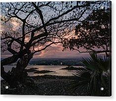 Volcanic Sunset On Hilo Bay - Big Island Acrylic Print by Daniel Hagerman