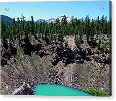 Volcano Lake Acrylic Print