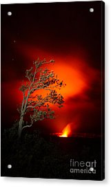 Volcano National Park Glow All Profits Go To Hospice Of The Calumet Area Acrylic Print