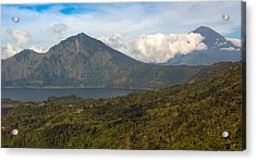 Acrylic Print featuring the photograph Volcanoes - Bali by Matthew Onheiber