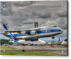 Acrylic Print featuring the photograph Volga-dnepr An124  by Jeff Cook