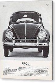 Volkswagen Beetle Acrylic Print by Georgia Fowler