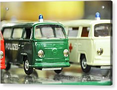 Volkswagen Miniature Cars Acrylic Print by Photostock-israel