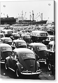 Volkswagen Shipment Acrylic Print by M E Warren
