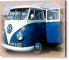 Volkswagen Splitscreen Van Acrylic Print by The Creative Minds Art and Photography
