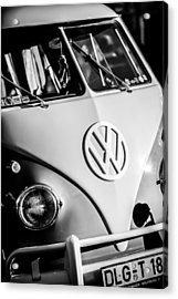 Volkswagen Vw Bus Emblem -1355bw Acrylic Print