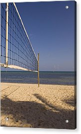 Acrylic Print featuring the photograph Vollyball Net On The Beach by Bob Pardue