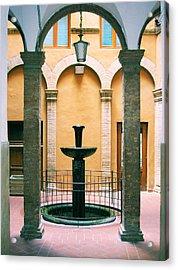 Volterra Courtyard Acrylic Print
