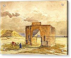 Volubilis Mecknes Ruins Acrylic Print by Juan  Bosco