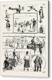 Volunteer Camp Windsor, I. Sleeping Partners. 2. Military Acrylic Print by English School