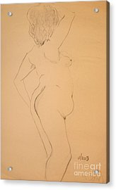 Voluptuous Nude Acrylic Print by Gabrielle Schertz