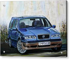 Acrylic Print featuring the painting Volvo by Anna Ruzsan