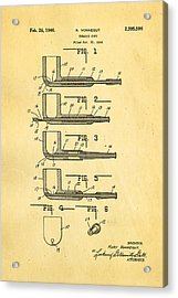 Vonnegut Tobacco Pipe Patent Art 1946 Acrylic Print by Ian Monk