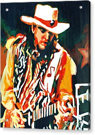 Voodoo Chile - Stevie Ray Vaughn Acrylic Print