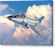Voodoo In The Clouds - F-101b Voodoo Acrylic Print by Stu Shepherd