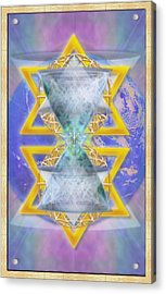 Vortex Chalice Spheres And Star Over Earth Acrylic Print
