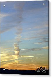 Vortex Cloud Acrylic Print by Marlene Rose Besso