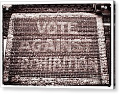 Vote Against Prohibition II Acrylic Print by John Rizzuto