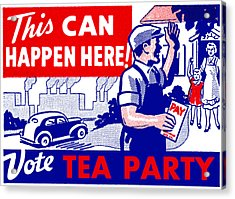 Vote Tea Party Acrylic Print by Historic Image