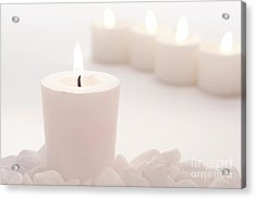 Votive Candle Acrylic Print by Olivier Le Queinec