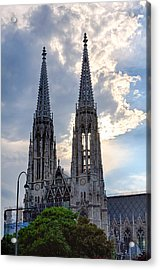 Votive Church Towers Acrylic Print by Viacheslav Savitskiy