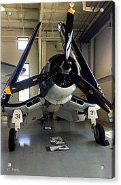 Acrylic Print featuring the photograph Vought Fg-1d Corsair by Rebecca Davis
