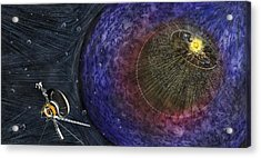 Voyager Leaving The Solar System Acrylic Print by Nicolle R. Fuller