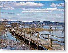 Vransko Lake Nature Park Bird Observatory Acrylic Print