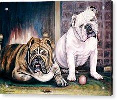 V's Bulldogs Acrylic Print by Melodye Whitaker